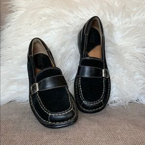 Born Suede/Leather Buckle Loafers